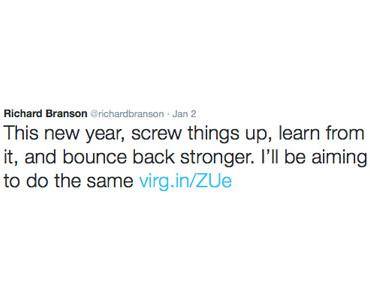 Richard Branson Tweet