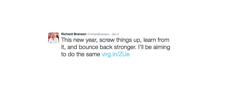 Richard Branson Tweet