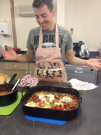 Ben cooks brunch